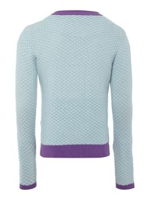 Original Penguin Girls Textured Contrast Cardgian
