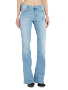 7 For All Mankind A pocket mid rise flare in palisades blue