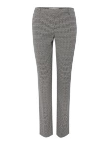 Oui Tapered Jacquard Trousers