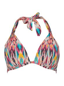 Kenneth Cole Ikat Halter bikini top