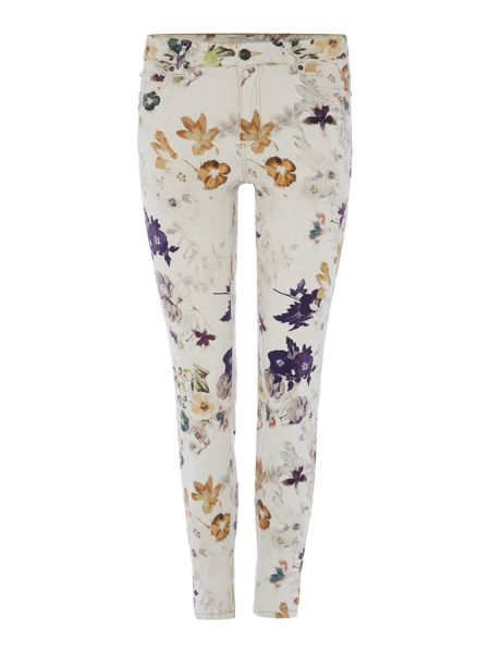 Oui Floral Printed Jeans