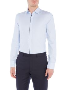 Hugo Boss Jamis Slim Textured Contrast Trim Shirt