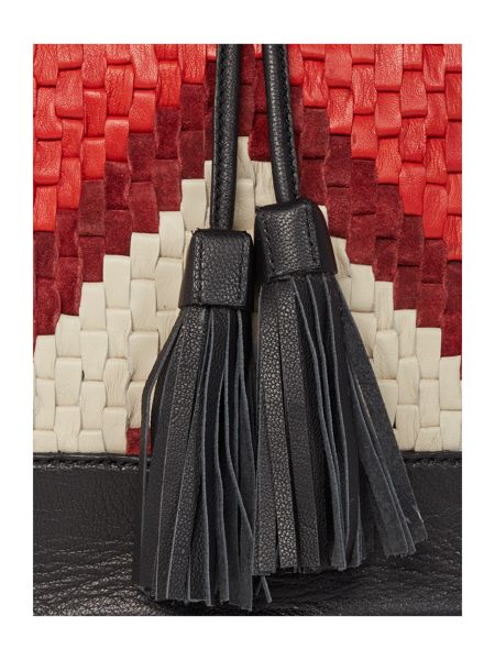 Dickins & Jones Tamara woven bucket bag