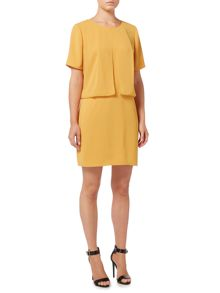 Biba Frill overlay zip back shift dress