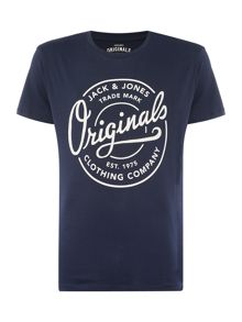 Jack & Jones Tone Large Logo Crew Neck T-shirt