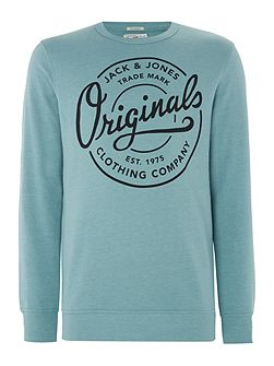 Tone Large Logo Crew Neck Sweatshirt