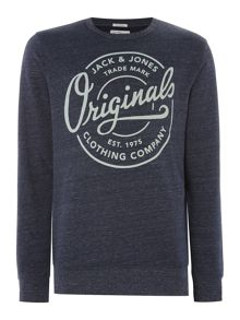 Jack & Jones Tone Large Logo Crew Neck Sweatshirt