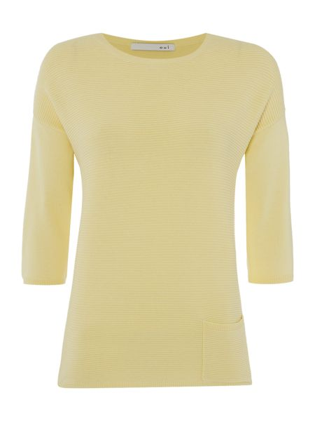 Oui Pocket Jumper with 3/4 Sleeves