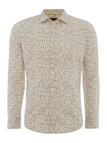 Sisley Men All Over Polka Dot Long Sleeve Shirt