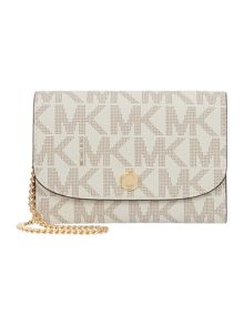 Michael Kors Juliana vanilla flat flap over purse