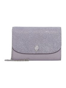 Michael Kors Juliana purple flat flap over purse