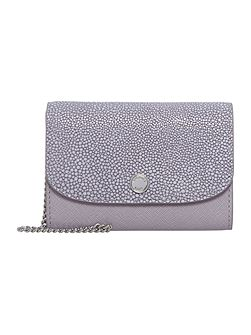 Juliana purple flat flap over purse