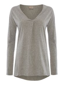 Vero Moda Long Sleeve V Neck Drape Top