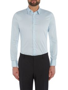 Sisley Men Plain Slim Fit Long Sleeve Shirt