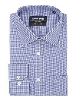 Andover classic collar shirt with dogstooth check