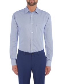 Howick Tailored Andover classic collar shirt with dogstooth check