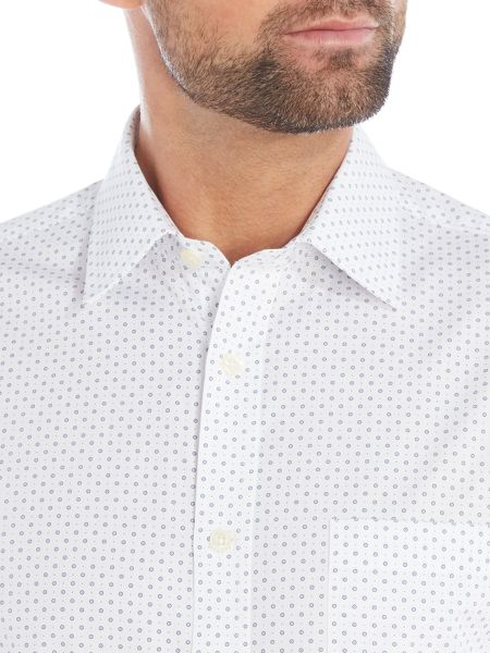 Howick Tailored Slater classic collar shirt with circle and dot