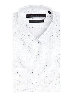 Jacob slim fit spot print shirt
