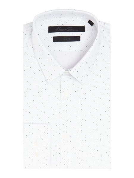 Kenneth Cole Jacob slim fit spot print shirt