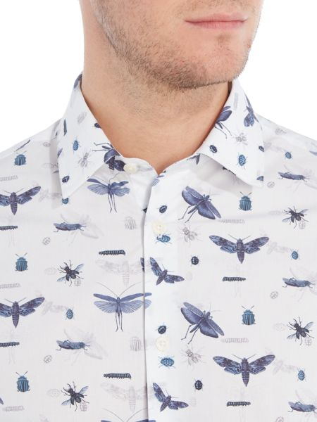 New & Lingwood Harrow print shirt with classic collar