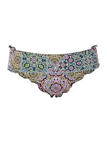 Bikini Lab Paisley cinched back cheeky bikini brief