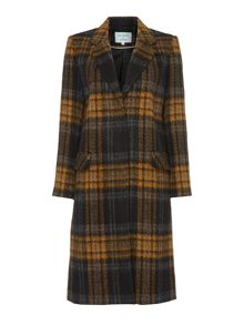Dickins & Jones Longline Checked Coat