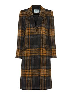 Longline Checked Coat