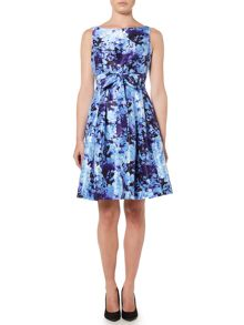 Eliza J Floral print fit and flare dress
