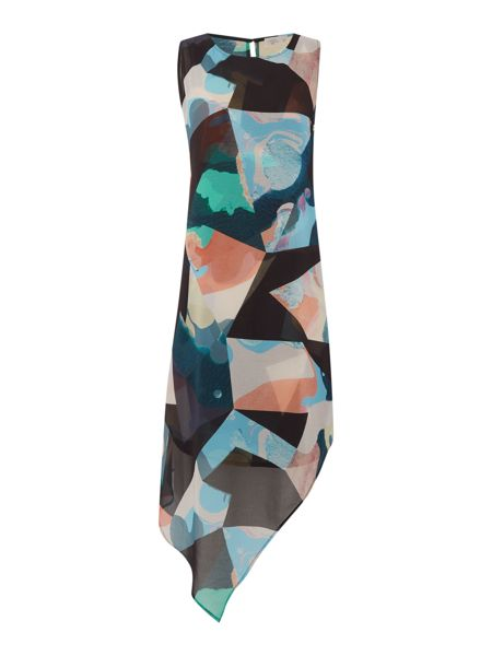 Label Lab Spectrum printed asymmetric dress