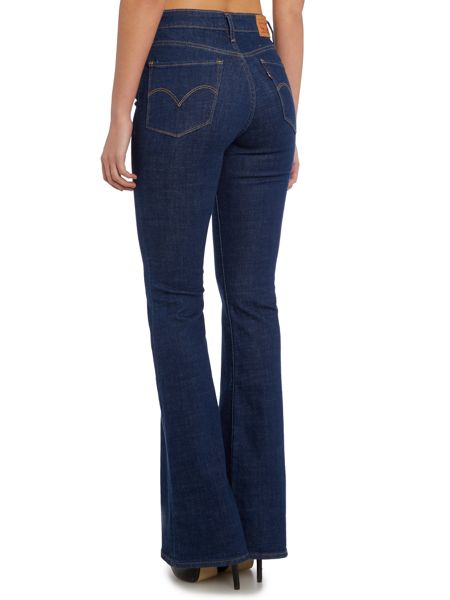 Levi's High rise flare jean in pacific sound