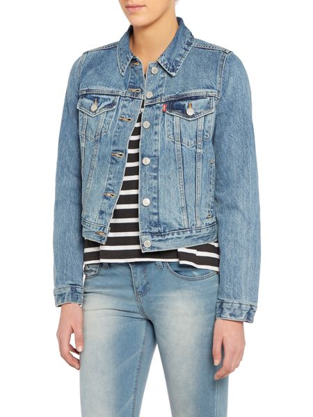 Levi's Authentic trucker denim jacket in traveling road