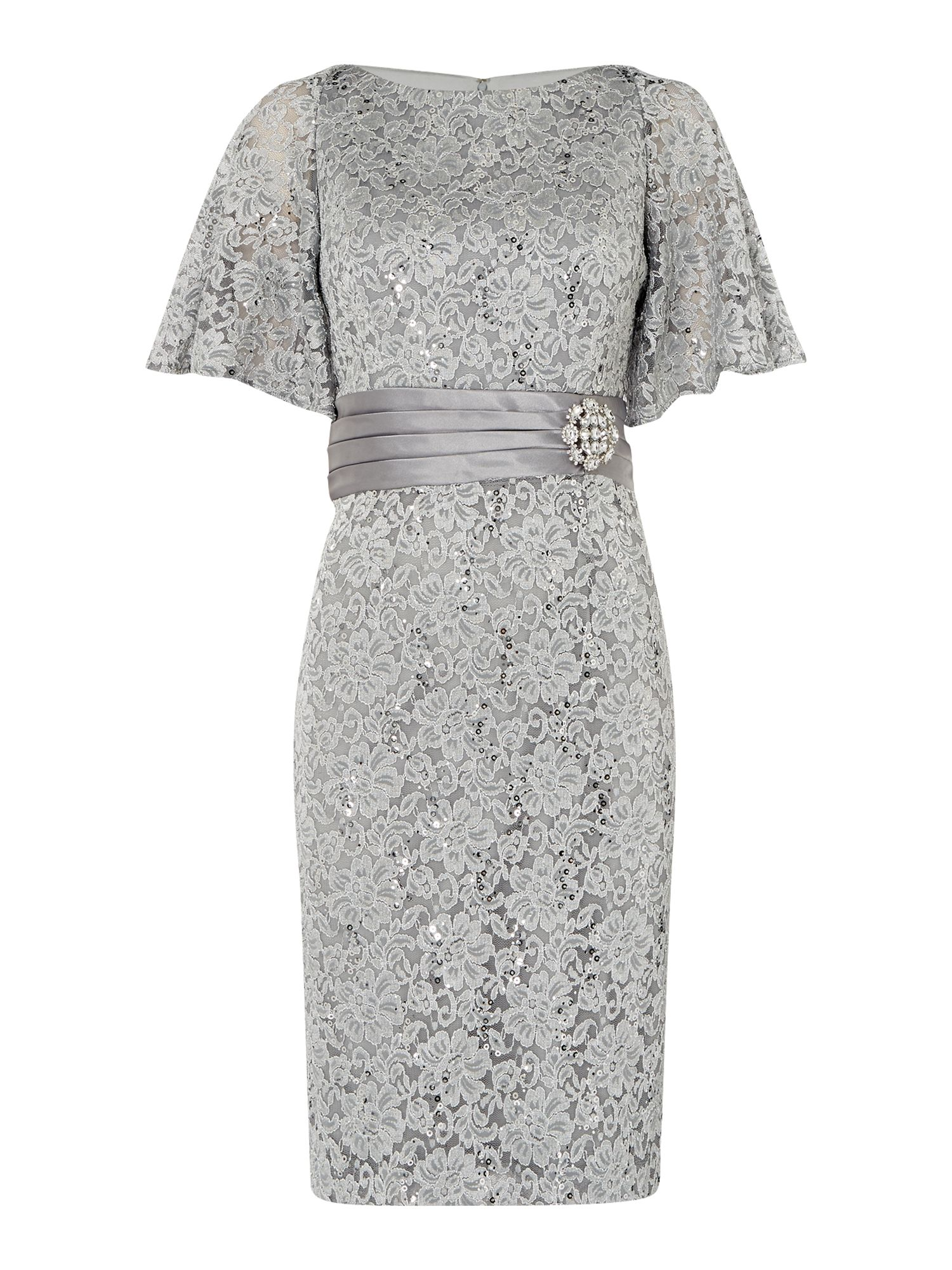 Eliza J All over lace dress with fan sleeve £140.00 AT vintagedancer.com