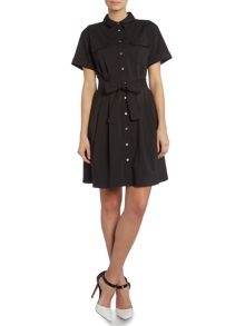 Vince Camuto Short sleeve belted shirt dress