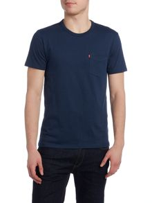 Regular fit crew neck pocket t shirt