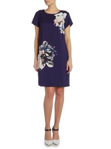 Vince Camuto Cap sleeve floral print shift dress