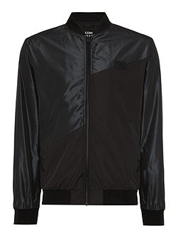 Fly Pieced Coated Bomber Jacket