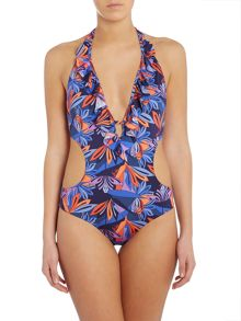 Biba Kendall Nouveau Trellis Cut Out Swimsuit