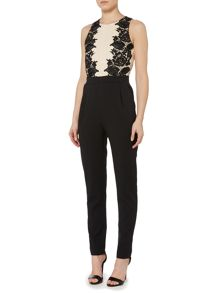 Little Mistress Lace Overlay Jumpsuit