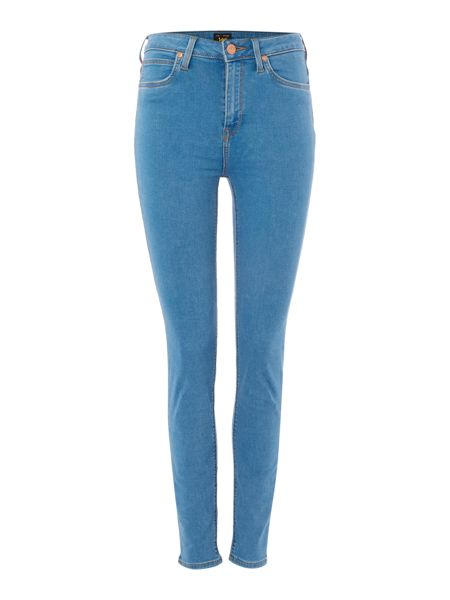 Lee Skyler high rise skinny jean in blue shadow