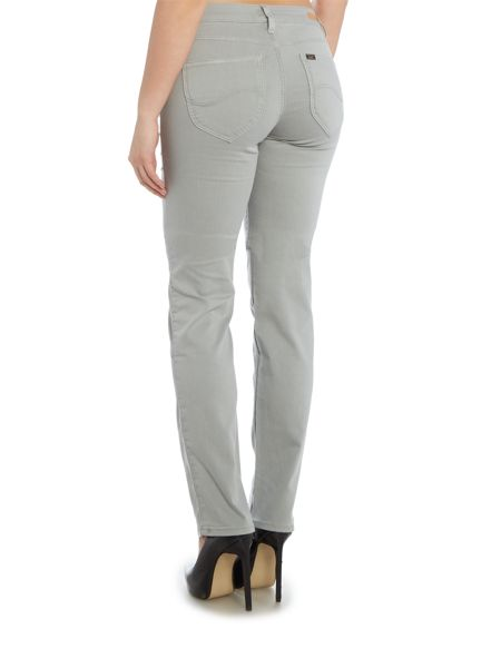 Lee Marion mid rise straight leg jean in grey