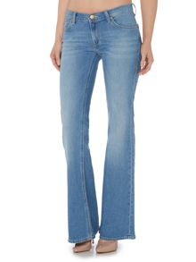 Lee Annetta flare jean in authentic blue