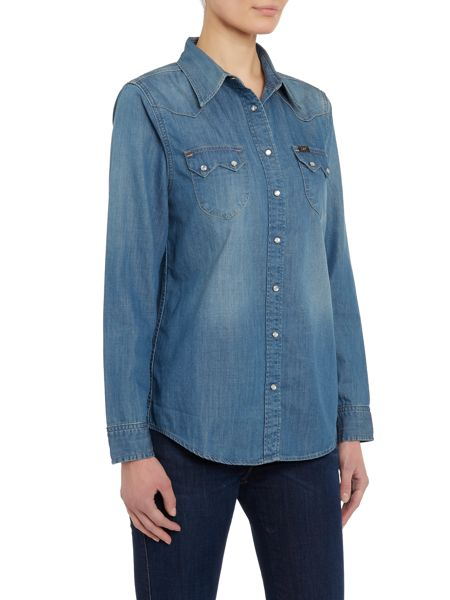 Lee Regular western denim shirt