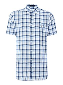 Large Bold Check Short Sleeve Shirt
