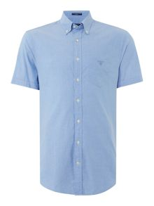 Gant Washed Pin Point Oxford Short Sleeve Shirt