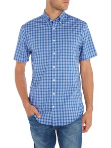Gant Dogleg Check Short Sleeve Shirt