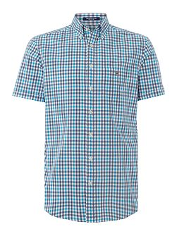Check Short Sleeve Button Through Shirt