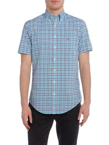 Gant Check Short Sleeve Button Through Shirt