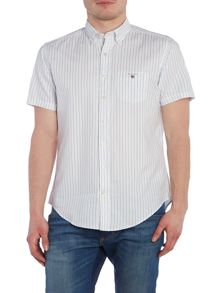 Gant Breton Stripe Oxford Short Sleeve Shirt