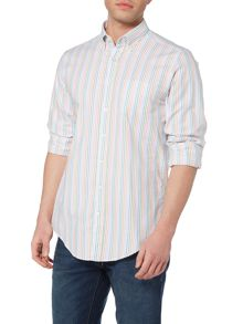 Gant Fairway Multi Stripe Oxford Long Sleeve Shirt