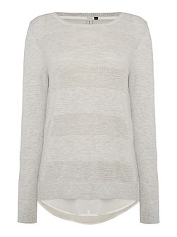 Textured Double Layer Knit